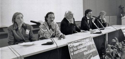 5 aprile 1993 - Stazione Marittima di Trieste - Manifestazione con Marco Pannella
